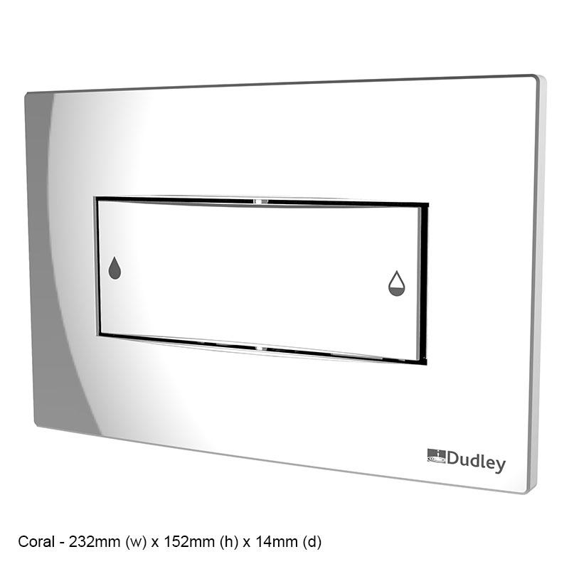 Dual flush, dual flush plates, flush plate - Dudley.